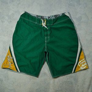 😍 5 for $25 / Army Green & Yellow Board Shorts